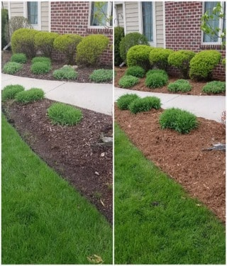 Flower Bed Cleanup and Mulch Services in New Berlin, Wisconsin